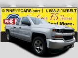 2017 Silver Ice Metallic Chevrolet Silverado 1500 Custom Double Cab 4x4 #116665374