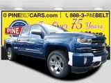 2017 Deep Ocean Blue Metallic Chevrolet Silverado 1500 LTZ Double Cab 4x4 #116665370