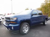 2017 Deep Ocean Blue Metallic Chevrolet Silverado 1500 LT Crew Cab 4x4 #116734529