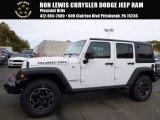 2017 Bright White Jeep Wrangler Unlimited Rubicon Hard Rock 4x4 #116734615