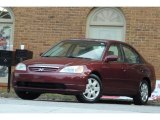 2002 Radiant Ruby Red Pearl Honda Civic EX Sedan #116757696