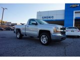 2017 Silver Ice Metallic Chevrolet Silverado 1500 LT Regular Cab 4x4 #116806153