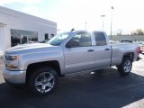 2017 Silver Ice Metallic Chevrolet Silverado 1500 Custom Double Cab 4x4 #116806080