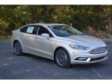 2017 White Gold Ford Fusion Titanium #116847064