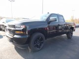 2017 Black Chevrolet Silverado 1500 Custom Double Cab 4x4 #116871131