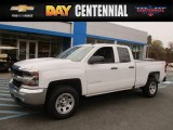 2017 Summit White Chevrolet Silverado 1500 WT Double Cab 4x4 #116871052
