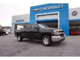 2017 Black Chevrolet Silverado 1500 LT Double Cab #116871223