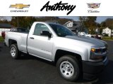 2017 Silver Ice Metallic Chevrolet Silverado 1500 WT Regular Cab 4x4 #116898981