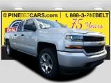 2017 Silver Ice Metallic Chevrolet Silverado 1500 Custom Double Cab 4x4 #116944360
