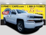 2017 Summit White Chevrolet Silverado 1500 Custom Double Cab 4x4 #116944359