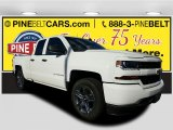 2017 Summit White Chevrolet Silverado 1500 Custom Double Cab 4x4 #116944342