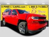 2017 Red Hot Chevrolet Silverado 1500 Custom Double Cab 4x4 #116944339