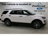 2017 White Platinum Ford Explorer Sport 4WD #117016181