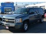 2011 Blue Granite Metallic Chevrolet Silverado 1500 LS Crew Cab 4x4 #117062739