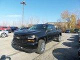 2017 Black Chevrolet Silverado 1500 Custom Double Cab 4x4 #117062989