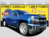 2017 Deep Ocean Blue Metallic Chevrolet Silverado 1500 LT Double Cab 4x4 #117062698