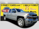 2017 Pepperdust Metallic Chevrolet Silverado 1500 LT Double Cab 4x4 #117062697