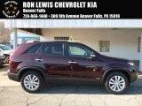 2011 Dark Cherry Kia Sorento LX V6 AWD #117091171