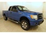 2014 Blue Flame Ford F150 STX SuperCab 4x4 #117178245