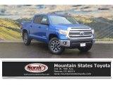 2017 Blazing Blue Pearl Toyota Tundra SR5 CrewMax 4x4 #117228023