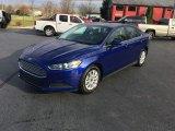 2015 Deep Impact Blue Metallic Ford Fusion S #117265700