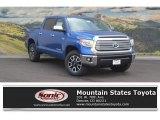 2017 Blazing Blue Pearl Toyota Tundra Limited CrewMax 4x4 #117319081