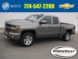 2017 Pepperdust Metallic Chevrolet Silverado 1500 LT Double Cab 4x4 #117319406