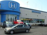 2007 Galaxy Gray Metallic Honda Civic LX Sedan #11720378
