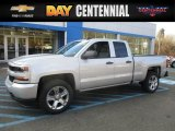 2017 Silver Ice Metallic Chevrolet Silverado 1500 Custom Double Cab 4x4 #117365778
