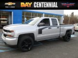 2017 Silver Ice Metallic Chevrolet Silverado 1500 Custom Double Cab 4x4 #117365777