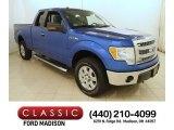 2014 Blue Flame Ford F150 XLT SuperCab 4x4 #117391584