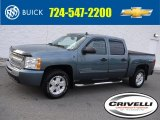 2011 Blue Granite Metallic Chevrolet Silverado 1500 LS Crew Cab 4x4 #117412274