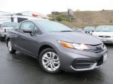 2015 Modern Steel Metallic Honda Civic LX Coupe #117412271