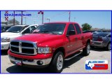 2005 Flame Red Dodge Ram 1500 SLT Quad Cab 4x4 #11729453