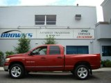 2006 Inferno Red Crystal Pearl Dodge Ram 1500 SLT Quad Cab 4x4 #11713830