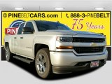 2017 Silver Ice Metallic Chevrolet Silverado 1500 Custom Double Cab #117502814