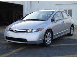 2007 Alabaster Silver Metallic Honda Civic LX Sedan #11720423