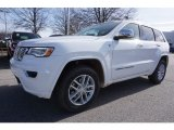 2017 Bright White Jeep Grand Cherokee Overland 4x4 #117593115