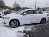 Oxford White Ford Fusion in 2017
