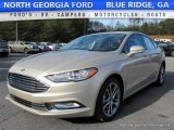 2017 White Gold Ford Fusion SE #117592874