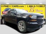 2017 Black Chevrolet Silverado 1500 Custom Double Cab 4x4 #117592993