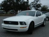 2005 Performance White Ford Mustang V6 Deluxe Coupe #1173677