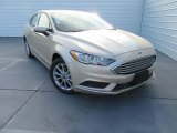 2017 White Gold Ford Fusion SE #117680220