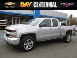 2017 Silver Ice Metallic Chevrolet Silverado 1500 Custom Double Cab 4x4 #117680093