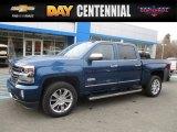 2017 Deep Ocean Blue Metallic Chevrolet Silverado 1500 High Country Crew Cab 4x4 #117680089