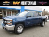2017 Deep Ocean Blue Metallic Chevrolet Silverado 1500 LT Double Cab 4x4 #117680088