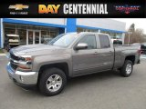 2017 Pepperdust Metallic Chevrolet Silverado 1500 LT Double Cab 4x4 #117680087