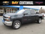 2017 Graphite Metallic Chevrolet Silverado 1500 LT Double Cab 4x4 #117680086
