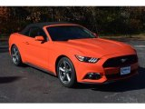 2016 Competition Orange Ford Mustang V6 Convertible #117680298