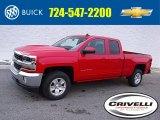2017 Red Hot Chevrolet Silverado 1500 LT Double Cab 4x4 #117680293